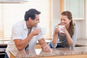 גבר ואשה במטבח